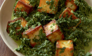 Vegetarian Indian food - Saag Paneer