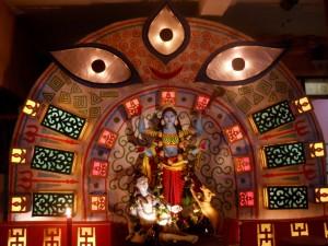 Goddess Kali the Demon Slayer. Art melts with religion.