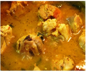 Indian spicy chicken soup