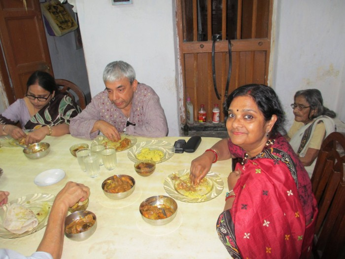 Delicious lunch in Rajpur, West Bengal.