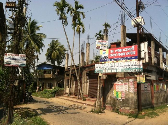 Rajpur, a small town near Calcutta.