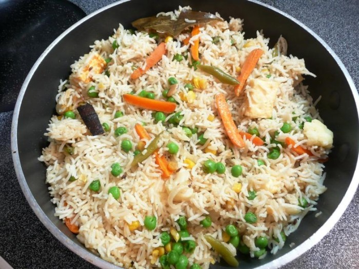 Vegetarian/Vegan Indian Dinner - Pulao