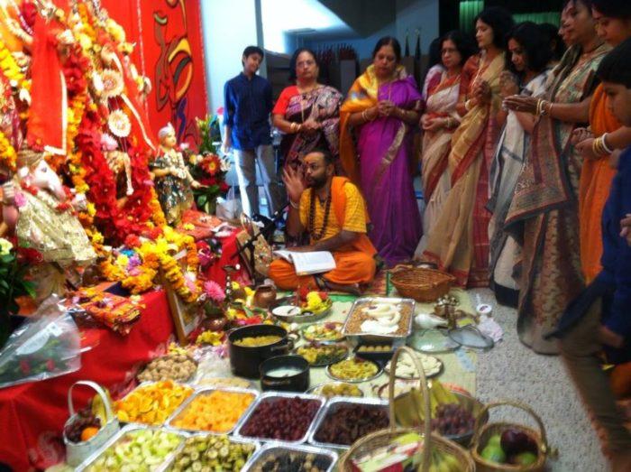Durga Puja in Albany, New York. Photo: Partha Banerjee.