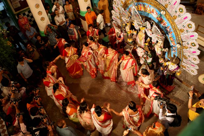 Invocation of the goddess with a community dance. Photo: Partha Banerjee.